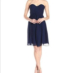 Navy Strapless Donna Morgan Dress
